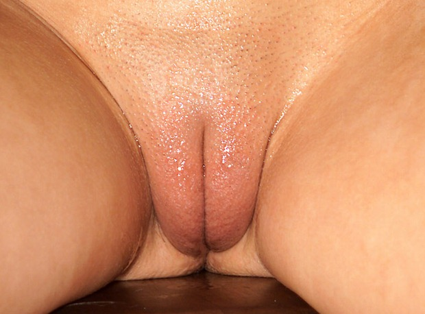 ... puffy pussy lips are gripping the base of your cock, begging you to