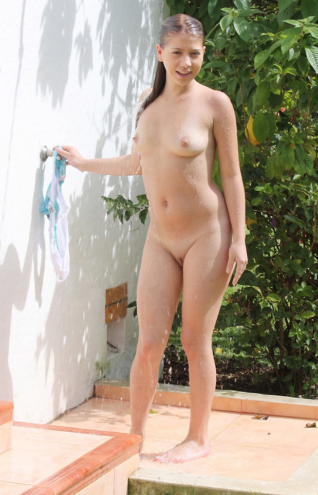 Showering with nudist daughter all became